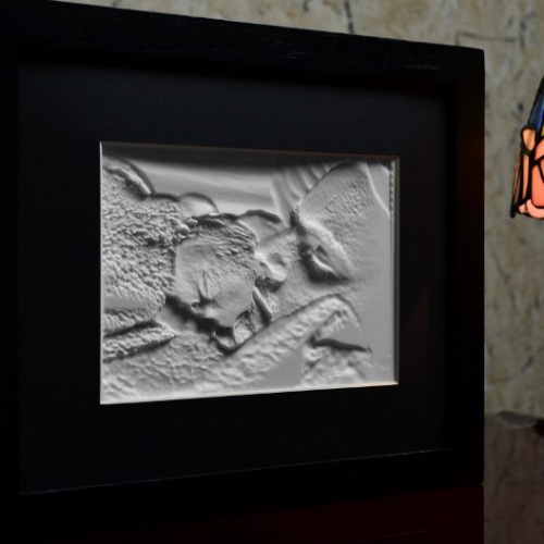 5x7 Framed Lithophane unlit Father