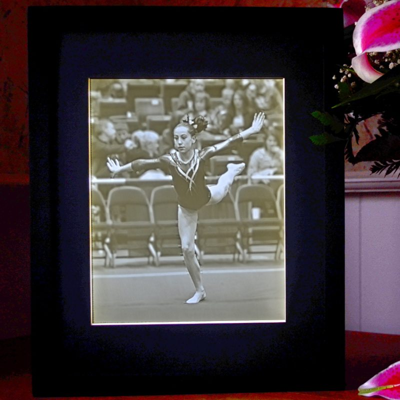 8x10 Gymnast Lithophane