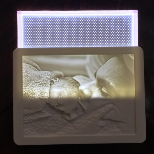 Backlight Lithophane Light Panel