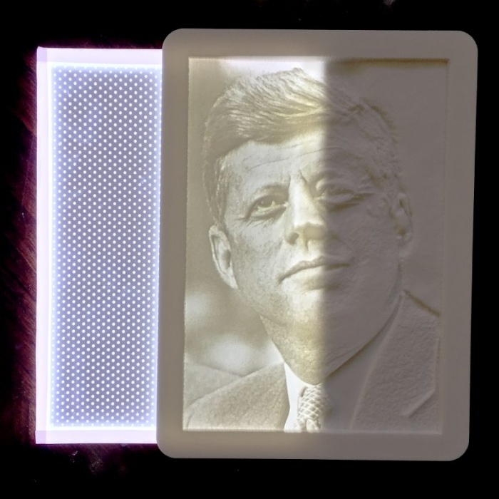 Backlight Lithophane light panel JFK