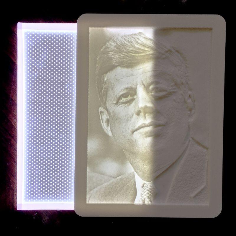Backlight Lithophane light panel JFK