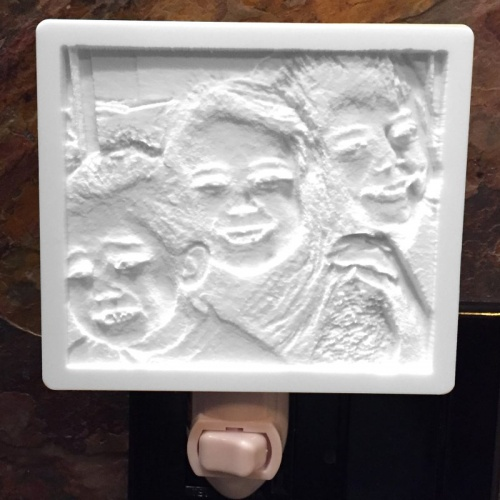 Brother and Sisters Nightlight lithophane 1