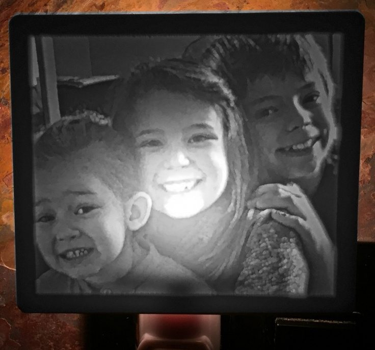 Brother and sisters nightlight lithophane 2