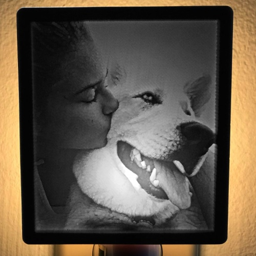 Husky Girl Nightlight Lit Product