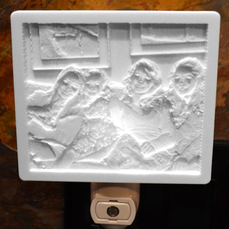 Smiling Sisters lithophane 1
