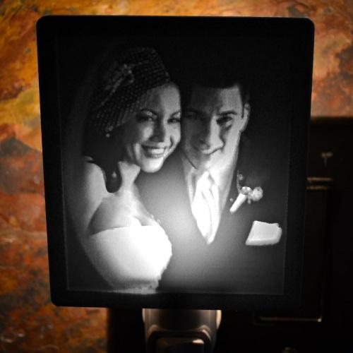 Wedding Anniversary nightlight lit