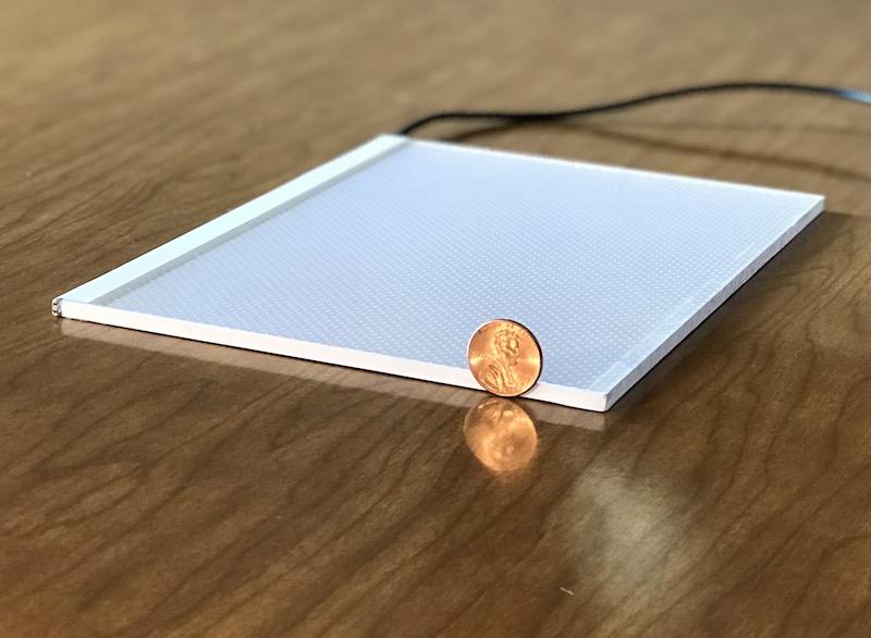 Thin led light panel for lithophanes